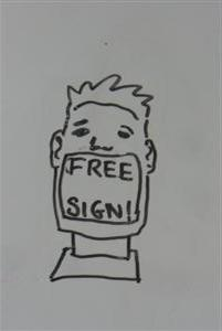 FREE sign 2009 by artist Paul Hilliard of gootyam.com